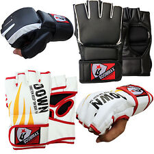 Boxing MMA Gloves Grappling Punching Bag Training Kickboxing UFC Fight Sparring