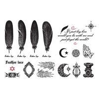 Butterfly Letter Transfer Waterproof Temporary Tattoo Body Art Sticker