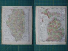 World antique maps 1910 1919 date range atlases ebay illinois michigan vintage original 1910 rand mcnally world atlas map lot gumiabroncs Gallery