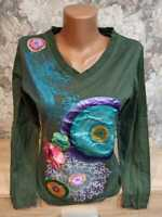Desigual  women's long sleeve t-shirt green  color  size  M