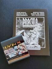 DRACULA  Atari Lynx NEW CARTRIDGE AND MANUAL ONLY NO BOX