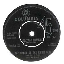 """The Animals The House Of The Rising Sun UK 7"""" Vinyl 1964 DB7301 Columbia VG"""