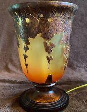 Art Deco Berman Hand Painted Glass Torchiere Lamp