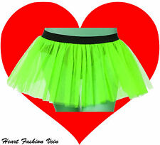 Neon UV Green tutu skirt Punk Cyber Rave Dance butterfly Fairy party Halloween