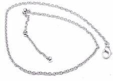 Authentic Bvlgari Bulgari 18k White Gold Simple Chain Necklace