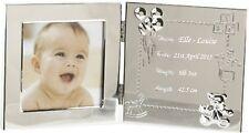 Grabado Baby datos marco de fotos personalizado nuevo bebé niña Regalo