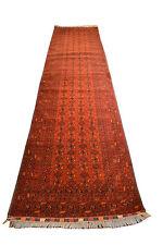 "Oriental rug runner Fine Terkaman Afghan size 3' 0""  x 13' 0""  #3069"