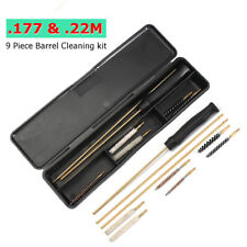 New Hand Gun Cleaning Kit Brass Rods Pistol Cleaner Set 177 22 Brushes & Rodsm