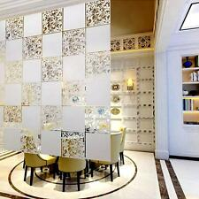 4pcs White Partition Panels Hanging Screen Room Divider Home Wall Decal