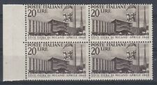 Italia 1949 27 fiera di Milano 598  in quartina bicolore qualità sufficiente
