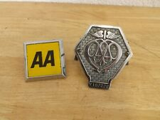 Pair of AA Badges Ancient and Modern (Relatively)  (Hospiscare)