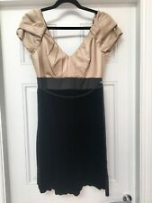 Monsoon Dress Size 10 New with Tag Black & Beige