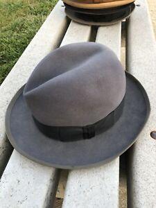 Vintage Stetson Whippet Men's Fur Felt Hat Made in USA size 6 7/8 Fedora