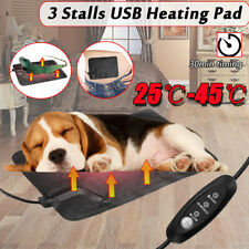 Small Electric Pet Heat Bed Pad Puppy Heated Cat Dog Whelping Mat Warm O