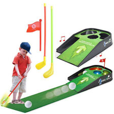MINI GOLF PRACTICE SET KIDS FUN TOY WITH SOUNDS CLUB BALL INDOOR PUTTING GAME