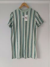 Fila Green Stripe Oversized T-shirt Dress BNWT Size XS RRP £35 Athleisure
