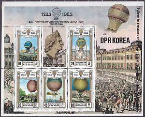 KOREA Pn. 1982 MNH** SC#2255 Sheet, Bicentenary of Manned Flight.