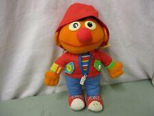 Playskool Vintage 1990 Dress Me Up Ernie Plush Doll Stuffed Sesame Street Orange