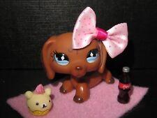 """Littlest Pet shop Chien Teckel / Petshop Dachshund Dog #640 """"AUTHENTIC"""""""
