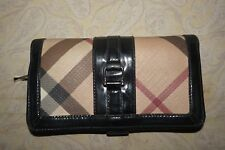 BURBERRY  Nova Check Bi-Fold Women's Long Wallet Clutch Purse