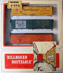 HO Scale Train Miniature Set of (3) Beer Reefer Car Kit Set