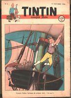 TINTIN n°4 du 17 OCTOBRE 1946 - édition belge - Couverture Cuvelier -TBE