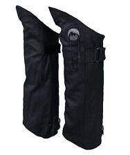 Genuine Leather Half Chap Boot Pant Protectors Leggings Leg Guards w/ Concho 2XL