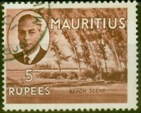 Mauritius 1950 5R Red-Brown SG289 Fine Used