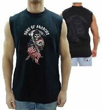 Authentic Sons Of Anarchy American Flag Reaper Soa Samcro Muscle Biker T Shirt S