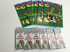 FARM 12 x Mini Colouring Books & crayons - Party Loot Bag Toy Fillers Gifts
