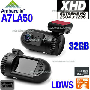 Dash Camera 0805 Ambarella 32GB 1296P mini Blackbox In Car DashCam Backup Crash