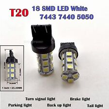 2X T20 7440 W21W White 6000K 18SMD Car LED Wedge Lamp Tail Backup light