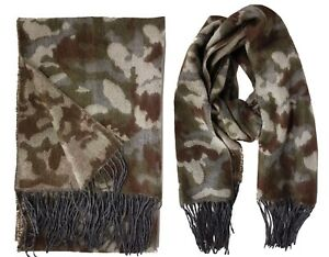 Oversized Women Camouflage Army Pattern Warm Winter Soft Long Wrap Shawl Scarf