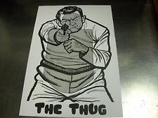 "25 QTY ""The Thug"" Pistol & Rifle Silhouette Shooting Targets - 12x18"