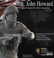 RP Models Maj John Howard WW2 Unpainted 1/9th bust kit Ltd Edition OOP Last Few