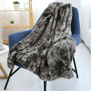 Faux Fur Couch For Bed Sofa Throw Blanket Super Soft Fluffy Fall Winter Warm AU