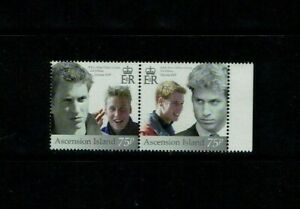 Ascension Is: 2003, Prince William, 21st Birthday,   MNH set