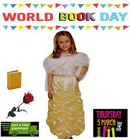 Fancy Dress Costume World Book Day Girls Dressing Up Belle Outfit Book Character