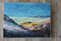 Original Vintage Painting, Acrylic, Signed Unframed Art Wall Home Decor