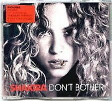 SHAKIRA Don't Bother w/ 2 RARE LIVE TRX Whenever & Objection UK CD Single SEALED