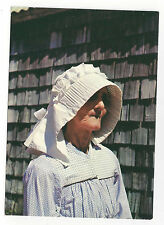 Saint Barthelemy St. Barth Barts Woman Wearing Caleche Hat Vtg Postcard 4X6