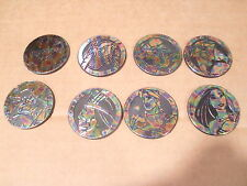 POCAHONTAS BY CANADA GAMES COMPLETE SET of ALL 8 IRADESCENT SLAMMERS/KINIS