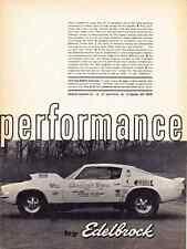 1970 CHEVROLET CAMARO PRO STOCK / BILL JENKINS GRUMPHYS TOY ~ ORIG EDELBROCK  AD
