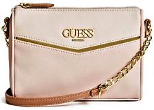 NWT GUESS VALORA HANDBAG Small Blush Multi Logo Crossbody Shoulder Bag GENUINE