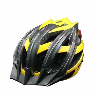 Livall BH100 Yellow Bling Biking Cycling Smart Helmet Volume Control LED Signal