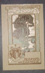 Exlibris Emmy Walter für Reinhard von Eschwege/ Art Nouveau Jugendstil