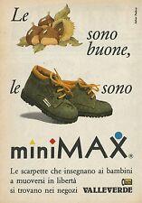 X2379 Scarpette MINI MAX - Valleverde - Pubblicità 1988 - Advertising