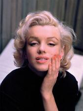 La vida del tiempo-Marilyn Monroe-color-Lienzo Enmarcado Listo 30x40cm