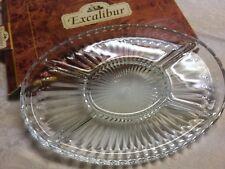 Cut Glass Borgonovo Excalibur Hors d'oeures Dish - Italy