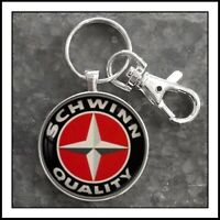 Schwinn  Bicycle Emblem Badge  Photo Keychain  Gift 🎁
